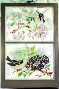 """Birds, Nest & Branches"" Broken Stained Glass Window Mosiac; Link to Store: http://mhcxd.eqyhy.servertrust.com/product-p/birds-nest-branches.htm"